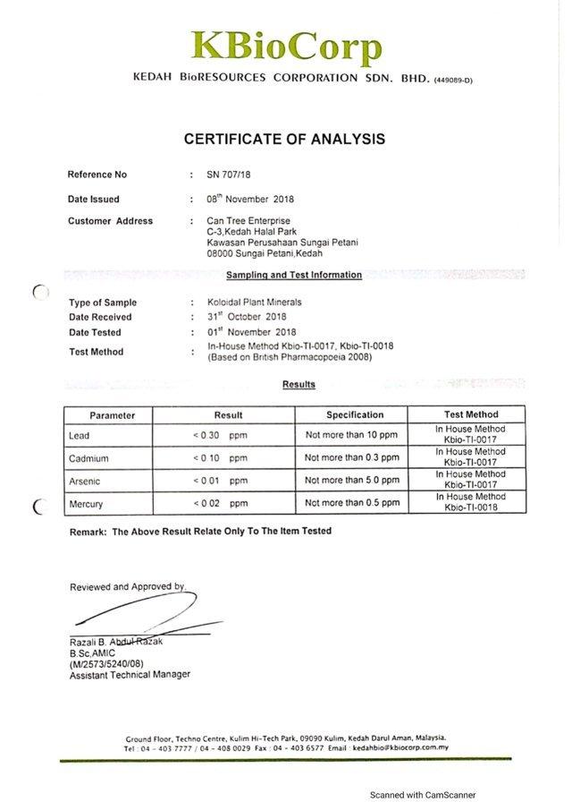 KBioCorp HeavyMetal Test